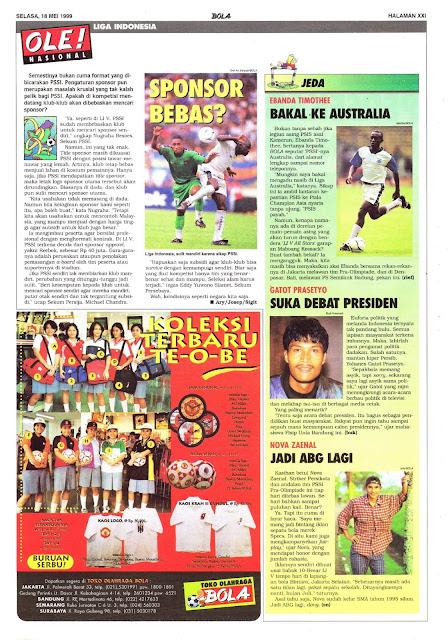 LIGA INDONESIA: SPONSOR BEBAS