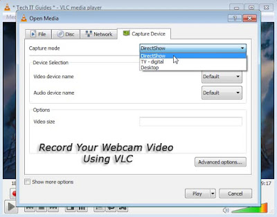 Record Web-cam Video on VLC