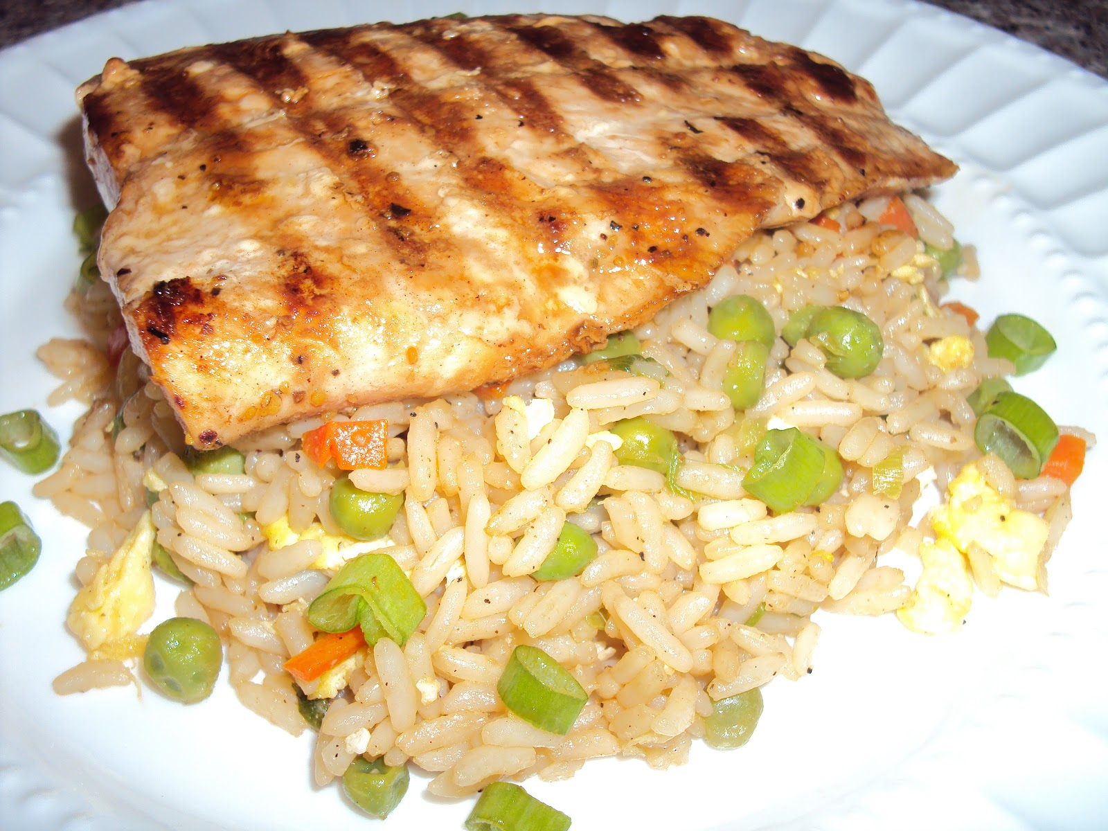 Asian Grilled Salmon and Fried Rice w/ Recipe | Christiana ...