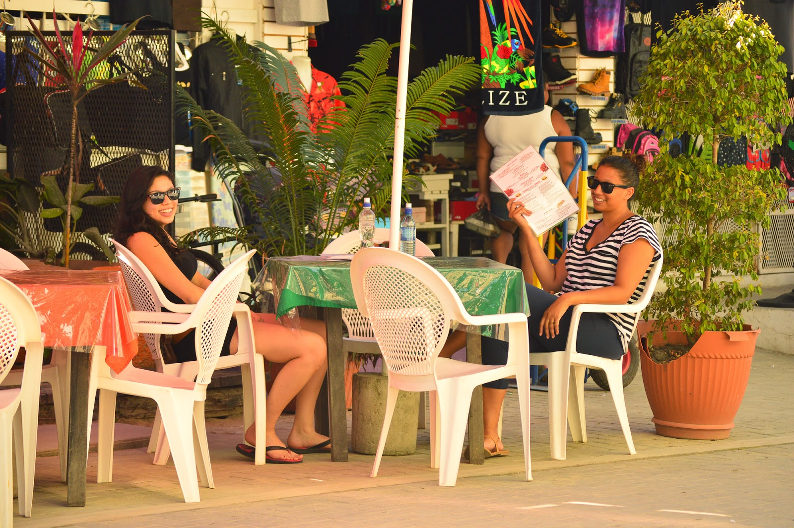 People watching in Belize