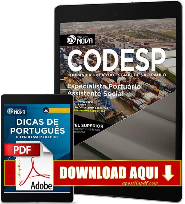 Apostila CODESP 2017 PDF Download Assistente Social