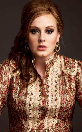 Foto de Adele maquillada