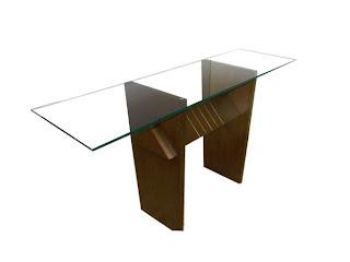 foto de mesa de vidro sobreposta