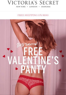 Victoria's Secret | Free Valentine's Day Panty with any Purchase