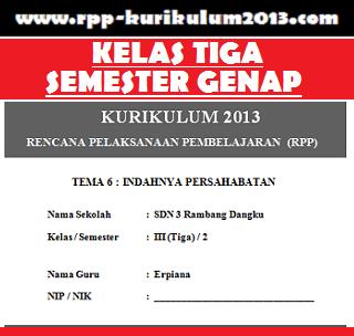 GAMBAR rpp kurikulum 2013 kelas tema 6 semester 2