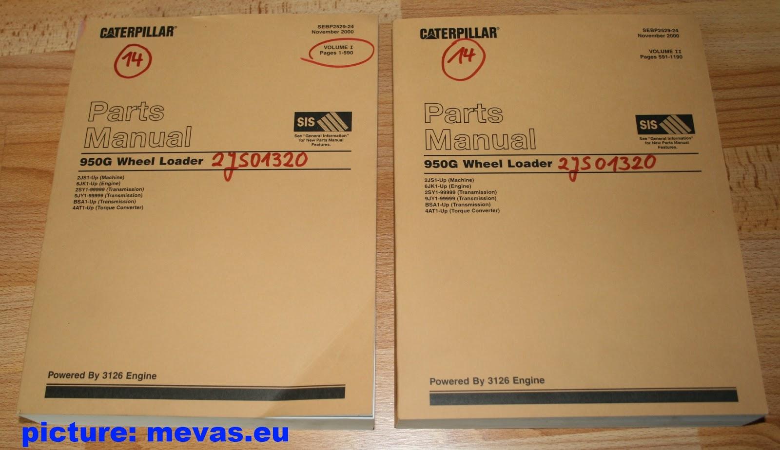 CAT 950G Wheel Loader Parts Manual