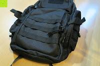 vorne: Lalawow Sling Bag taktisch Rucksack Daypack Fahrradrucksack Umhängetasche Schultertasche Crossbody Bag