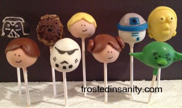 star wars cake pops frosted insanity wars cake pops 7675