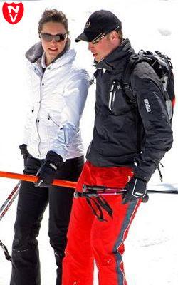 принц Уильям на лыжной прогулке в кепке 5.11