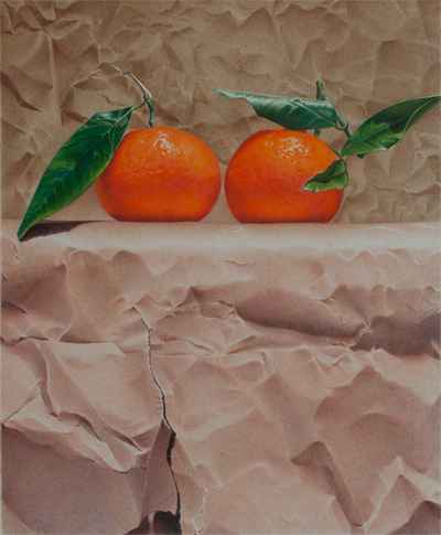 Mandarins and Paper by Paco Martín Dominguez