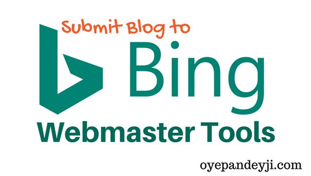 Bing Webmaster Tools Me Blog Ko Submit Kaise Kare