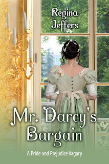 Book cover: Mr Darcy's Bargain by Regina Jeffers
