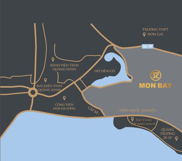 Vị trí đắc địa của dự án Mon Bay Hạ Long