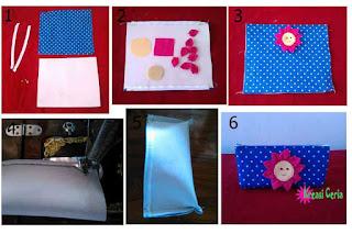 Tutorial membuat dompet pensil aplikasi bunga paling mudah