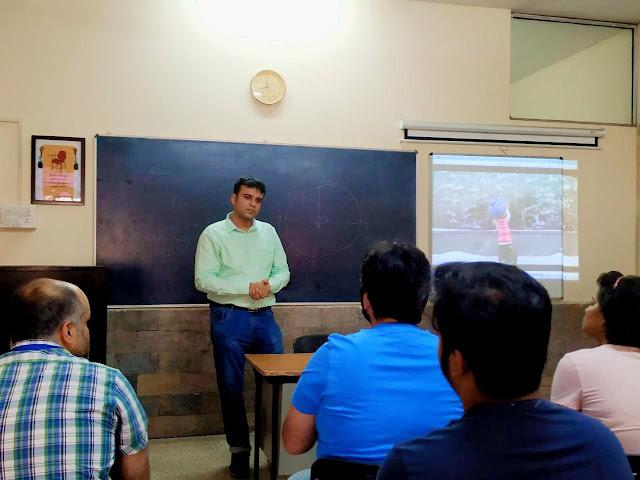 Conducting a Digital Filmmaking Workshop at Apeejay Institute of Mass Commmunication, Dwarka