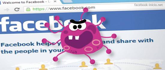 virus que se propaga por Facebook