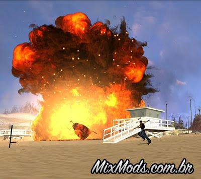 explosões realistas gta sa mod
