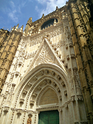 Entrance to Cathedral in Seville