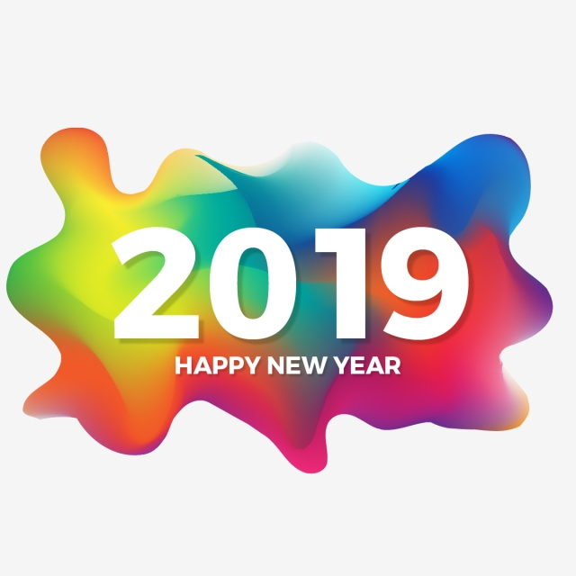 graphic art design format.happy new year 2019