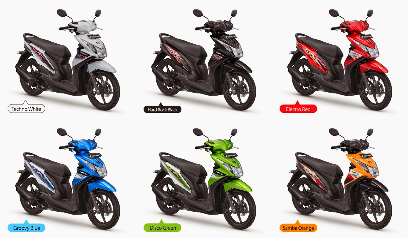 Motor Rakitan Modifikasi Warna Beat Pop