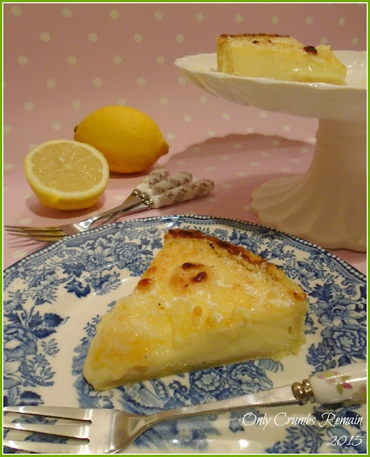Lemon Tart with Goats Cheese