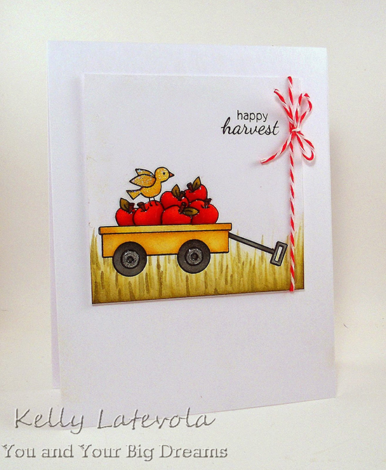Wagon Card by Kelly Latevola | Wagon of Wishes stamp set by Newton's Nook Designs #newtonsnook