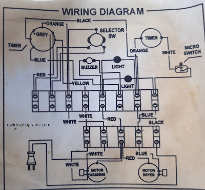 Washing Machine with Dryer Wiring DiagramElectrical Wiring Diagrams Platform