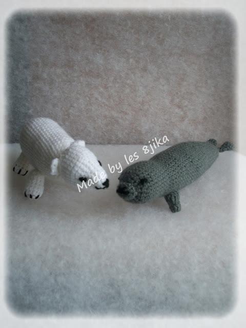 Ours et phoque au crochet