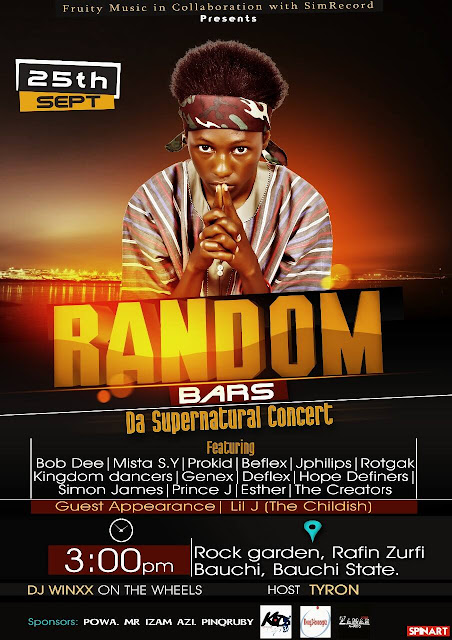 EVENT: RANDOM BARS- DA SUPERNATURAL CONCERT