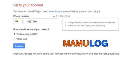 number verify kare email id ke liye