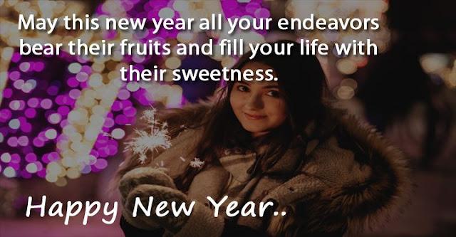 New Year Greeting Card For Boyfriend