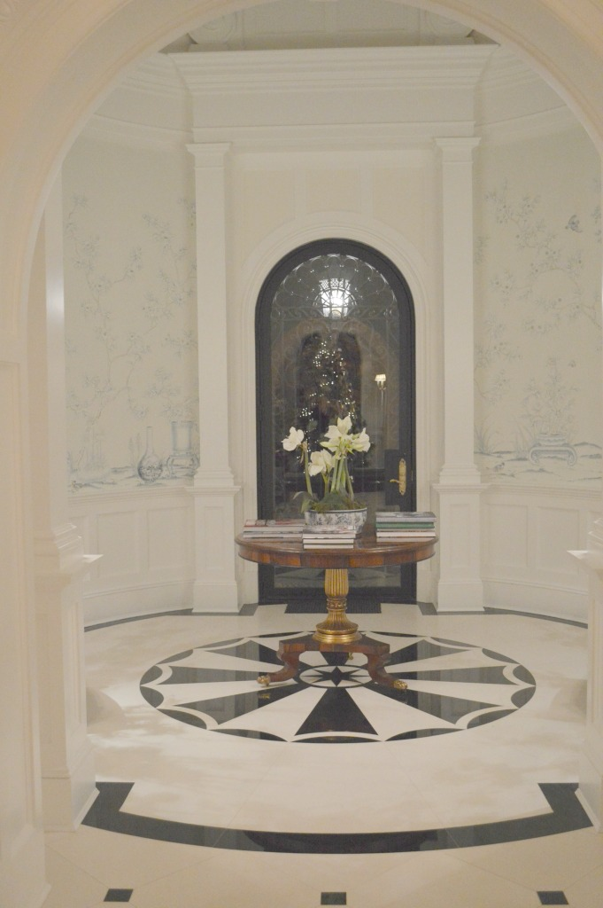 Marble entry in enchanted home blogger Tina's home