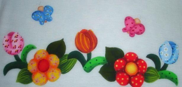 pintura em tecido country folk art passo a passo sombra seca
