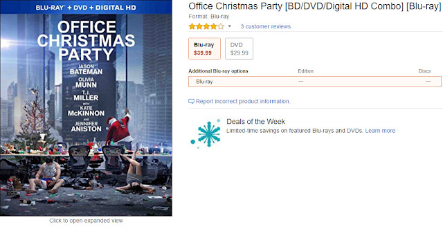 Office Christmas Party 2016 DVD and Bluray Release Date Amazon