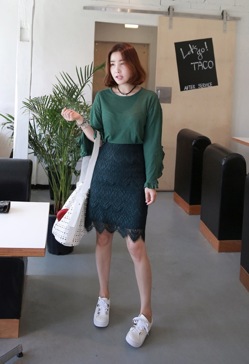 Patterned Lace Skirt