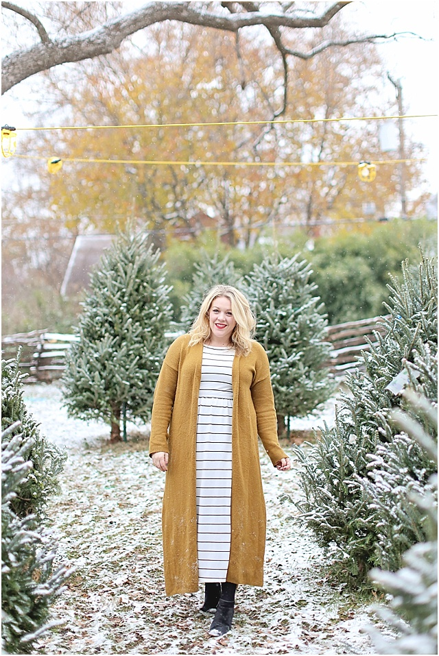 Winter Layers Over a Summer Dress