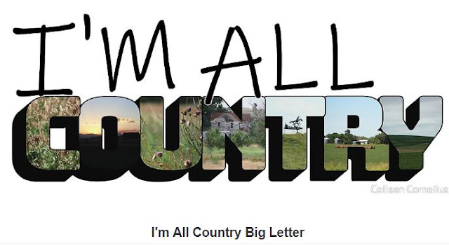 I'm All Country Big Letter