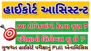 Gujarat High Court Assistant Syllabus pdf Download 2018 Full Details