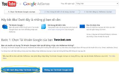 Đăng ký Google Adsense cho Youtube - Hướng dẫn chi tiết