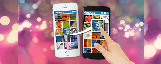 تطبيق FotoSwipe لنقل الصور بالسحب بين هواتف الآيفون وأجهزة الأندرويد