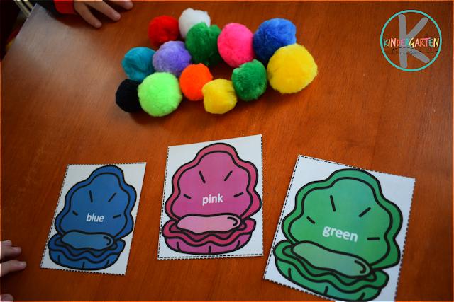 color matching activity for toddler, preschool, kindergarten