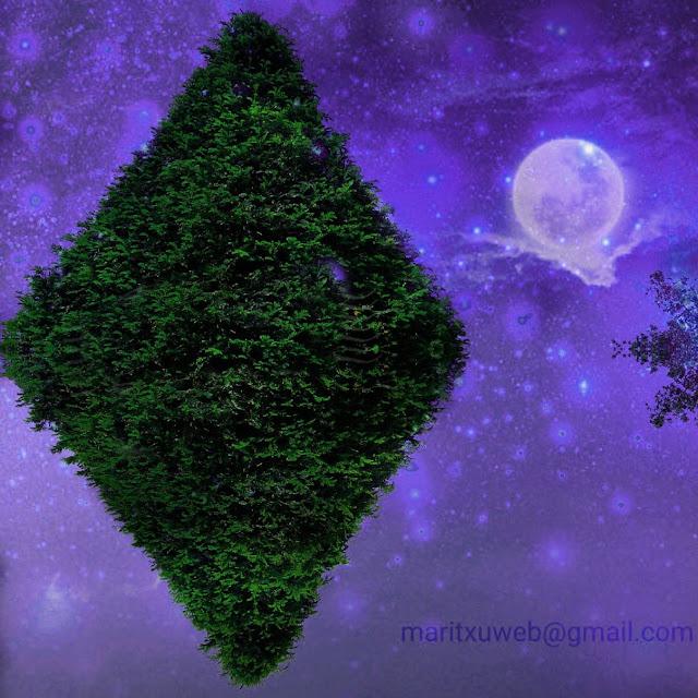 fotografía retocada, rombo en verde.