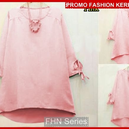 FNH195 Grosir Blouse Fio Pink SW D Wolly BMGShop