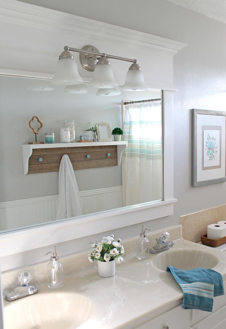 The Craft Patch DIY Farmhouse Shelf Tutorial A Bathroom Refresh - Bathroom refresh ideas