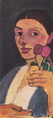 Self-Portrait with Two Flowers, Paula Modersohn-Becker