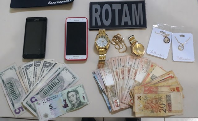 Rotam recupera dinheiro furtado em Campina da Lagoa e prende suspeito em Ubiratã
