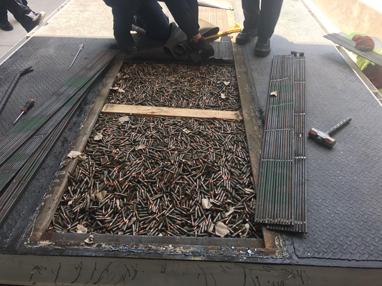 Policía federal asegura cargamento de municiones en Sonora
