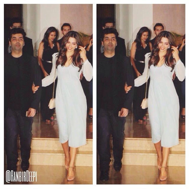 oh ranbir😁 youve really let go a gem!!💎❤️ deepika , deepika ,padukone, Deepika Padukone Hot Pics In Blue Dress At Farah Khan Bday Party