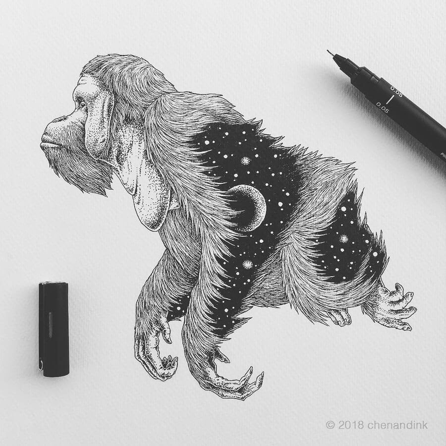 08-Orangutan-Astral-Animals-Chen-Naje-www-designstack-co