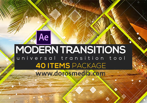 قوالب افترافكت قالب انتقاالات حديثة رائعة للافترافكت VIDEOHIVE MODERN TRANSITION PACK | 40 ITEMS